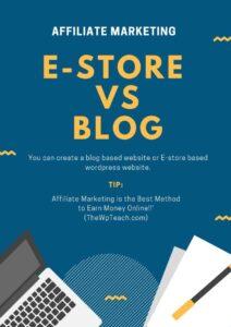Blog vs E-store