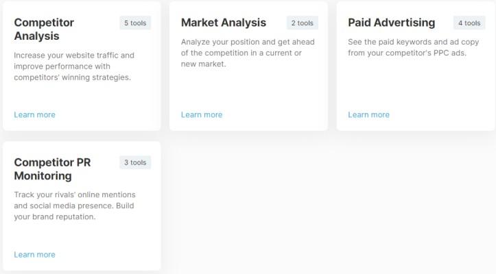 Semrush Market Research Tool