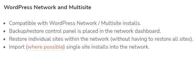 UpdraftPlus Plugin WordPress Network and Multisite Option