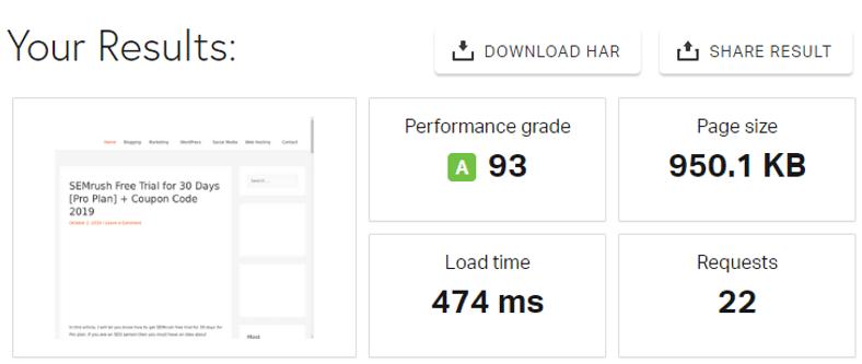 WPX Hosting Speed Test