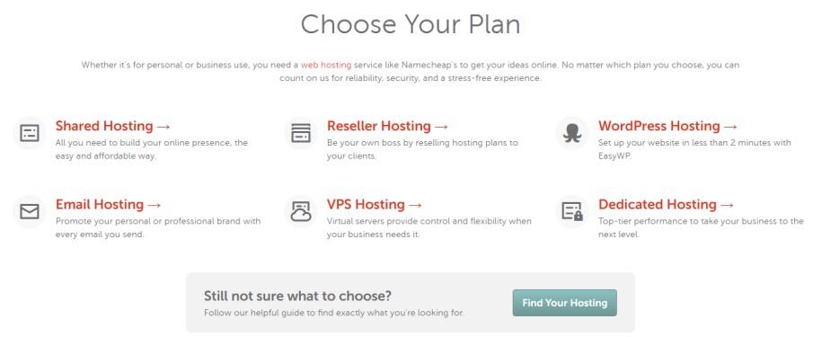 Select a Web Hosting